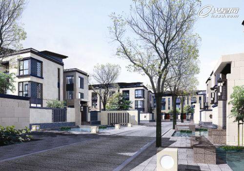 水乡美爆了!现代中式别墅区地块规划设计图片