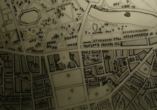 复古风格手绘伦敦地图 - 建筑   火星
