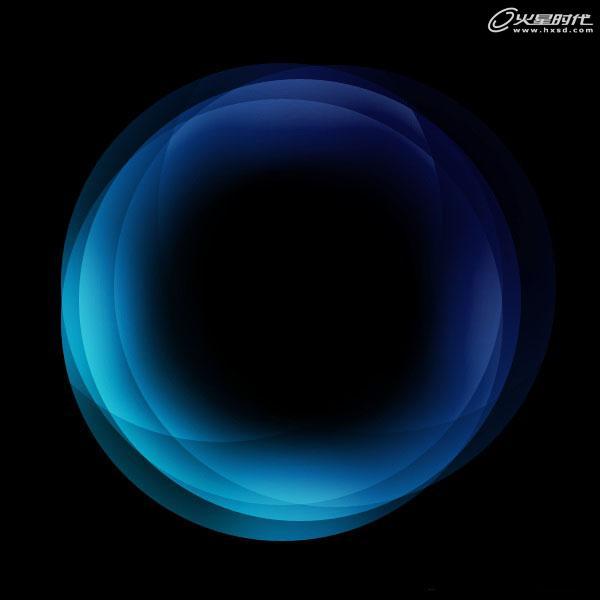 平面设计:ps绘制球状层次感的梦幻光圈