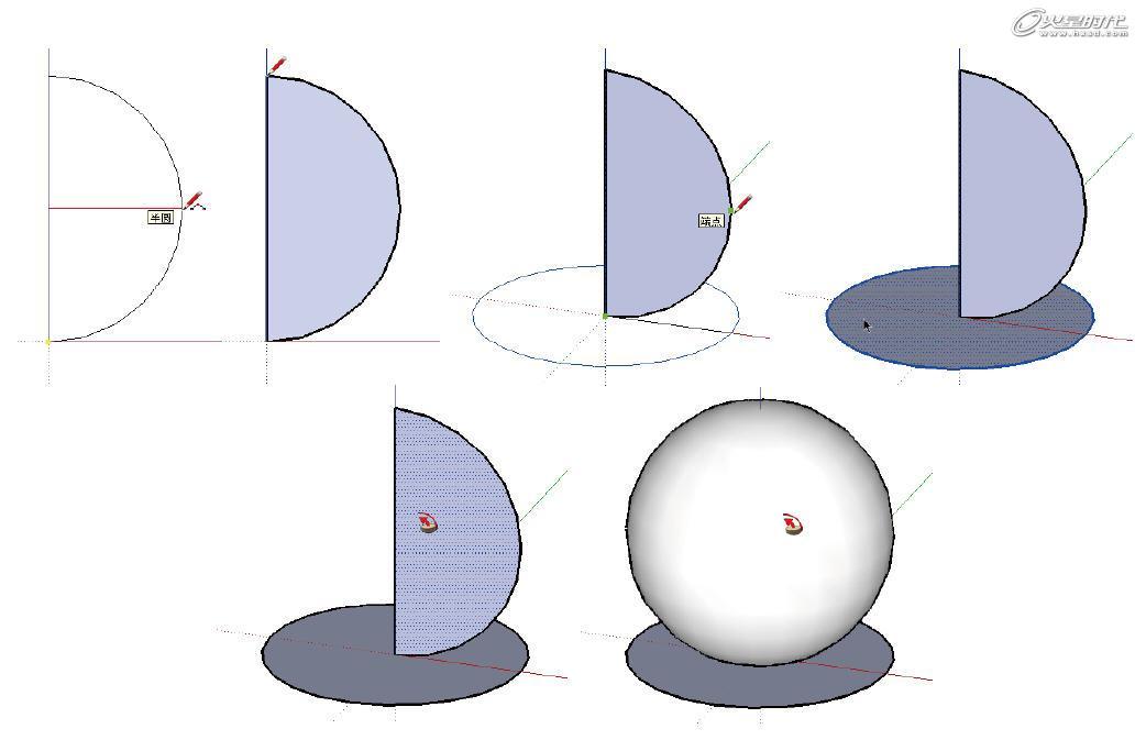 将三角形作为截面图形,经过〔路径跟随〕操作后,图形就形成一个圆锥体