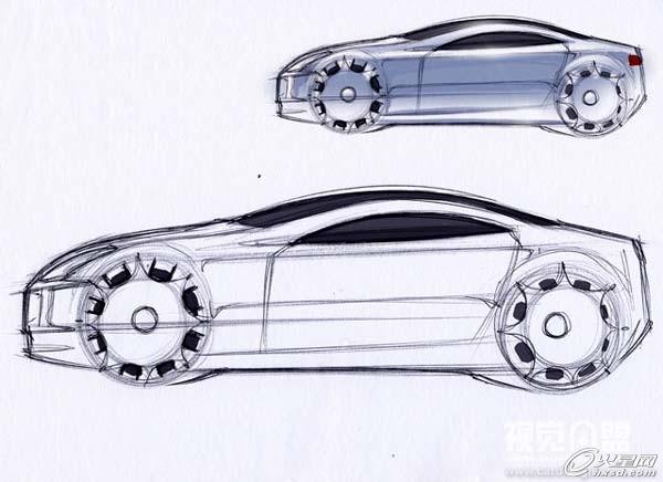 工业设计:透视与汽车草图教程(一)