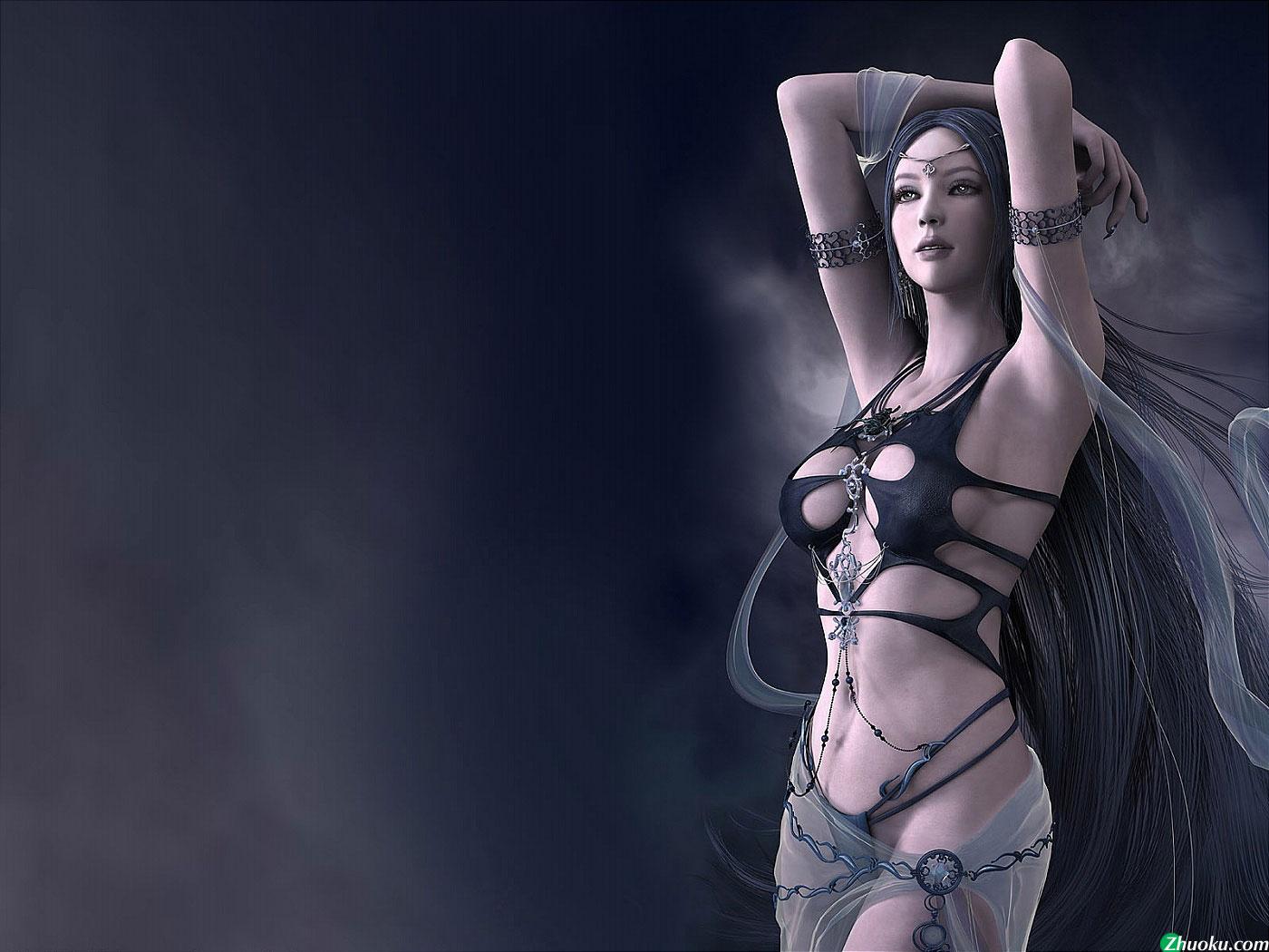 不论是cg还是手绘 这种类型的美女都不可能在游戏中