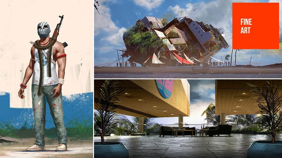 开发初期的《孤岛惊魂3》并不是后来那个样子,这些新公布的设定概念图揭露了不少东西,我们可以看到一些地区和想法在最终的游戏版本中实现了,像生锈的船体,而一些非常疯狂的东西在最终的游戏中并未出现,像是奢华的旅游胜地,高尔夫球场,圆屋顶的市镇,老式苏联直升飞机,甚至是停止经营的游乐园。 最有趣的改变应该是在风格上;最终版本的游戏是和当地部落融为一体的过程,然而概念图却像是一片繁荣的土地遭到了遗弃。好像僵尸危机爆发了的样子。 这些图片全都是由West Studio的天才们出品,这家公司专门为游戏和电影业设计概念图