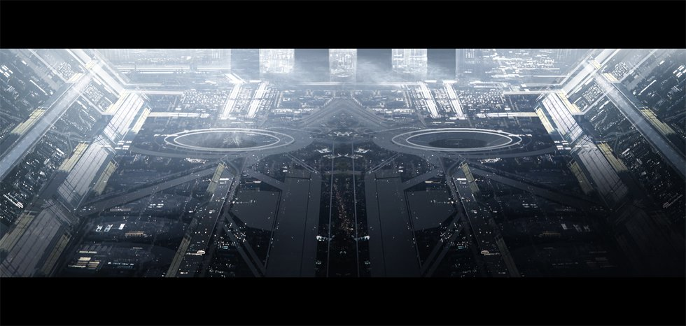 City Science Fiction Space - Pics about space