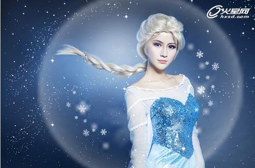 《冰雪奇缘:冰纷乐》cosplay冰雪公主