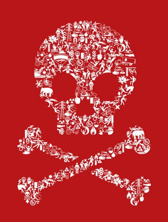【海量】骷髅主题平面海报设计