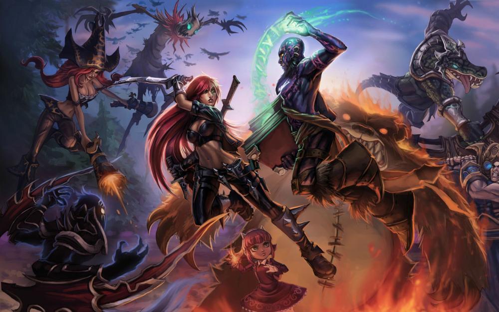 壁纸原画插画游戏壁纸游戏人物角色素材绘画设定原画英雄联盟 素材