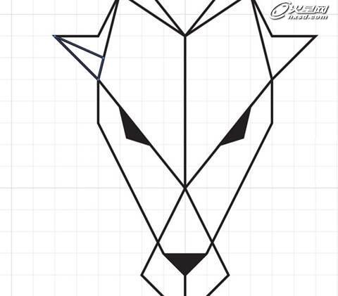 使用钢笔工具手工绘制这些形状