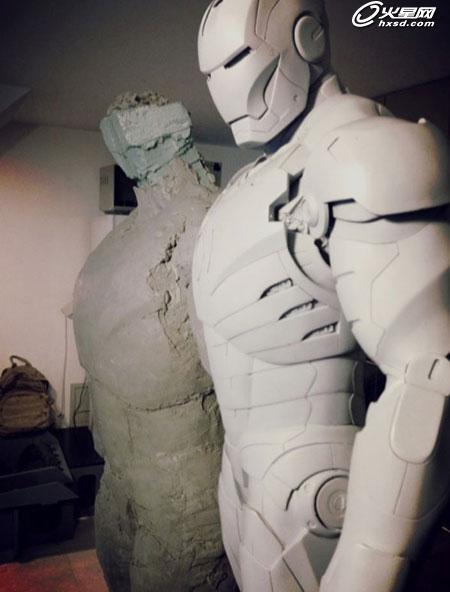 钢铁侠3盔甲图纸 自制钢铁侠盔甲图纸 钢铁侠盔甲制作图纸 高清图片