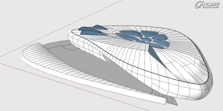 建筑设计教程:sketchup制作香奈儿移动艺术展馆