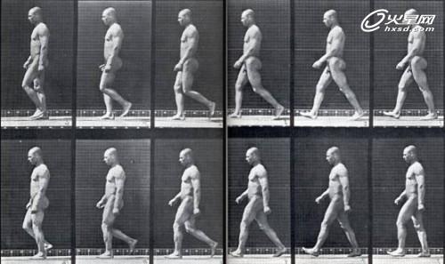 行走动画全解析 步行 中全身 运动 规律演示 火星 行走动高清图片